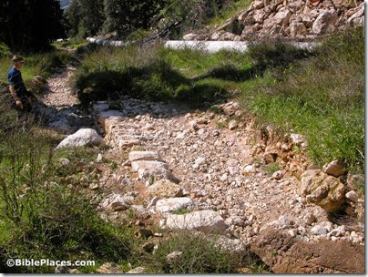 Roman road to Moza, possible Emmaus, tb030803361