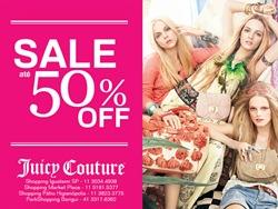 Liquidação Juicy Couture Verão 2012 com até 50% de desconto.