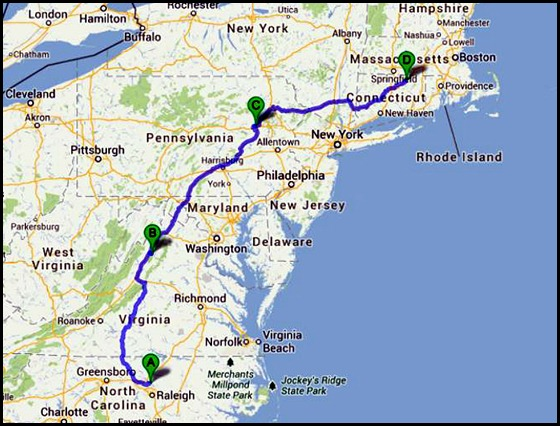 0 - Travel to Wilderness Lake CG, Willington, CT  250 miles