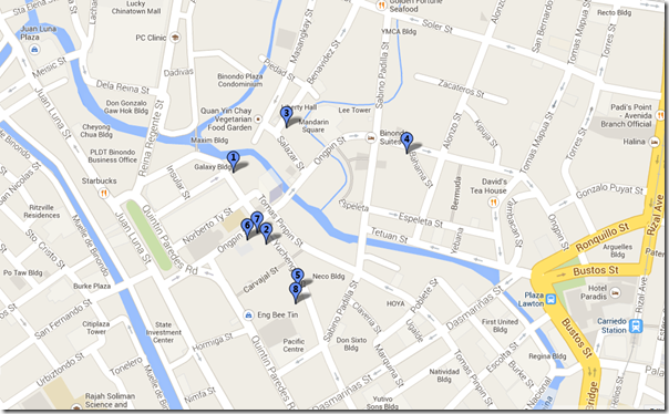 Binondo Food Trip Map