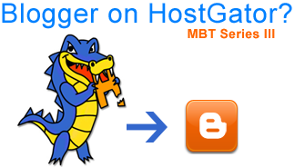 blogger blog on hostgator