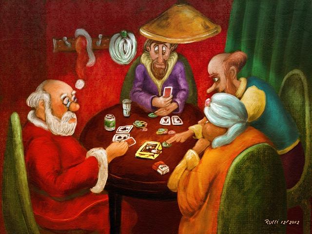 noel y reyes jugando alpoker