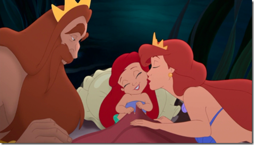 Ariel-and-her-parents-little-disney-princesses