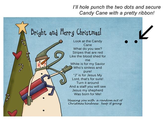 Christmas Kindness example