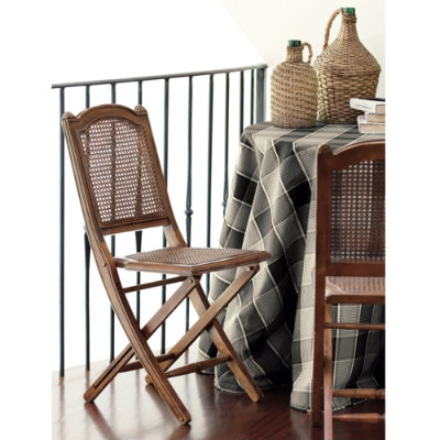 I love this Louis Folding Chair from Ballard Designs.