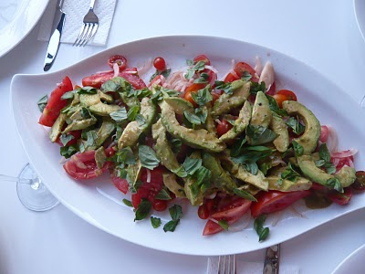 Tomato, Avocado and Onion Salad