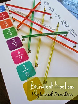 Equivalent Fractions Pegboard Practice