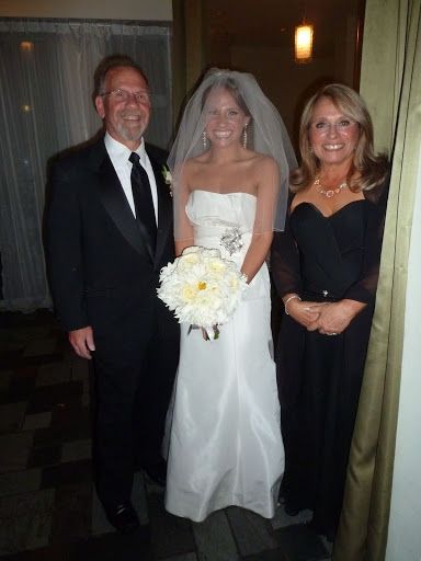 The bride-to-be, flanked by her parents. This was taken minutes before the ceremony.