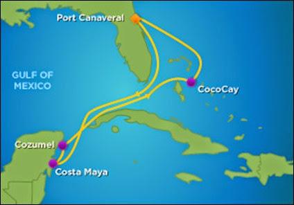Intinerary map