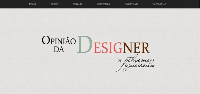 O layout do blog