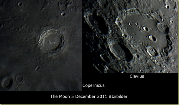 5 December 2011 Lunar Craters