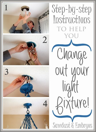 Install a new light fixure... EASY!