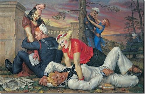 Paul Cadmus, Sailors and Floosies, 1938