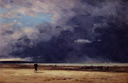 Eugène Boudin, Deauville, Low Tide, c. 1860-65