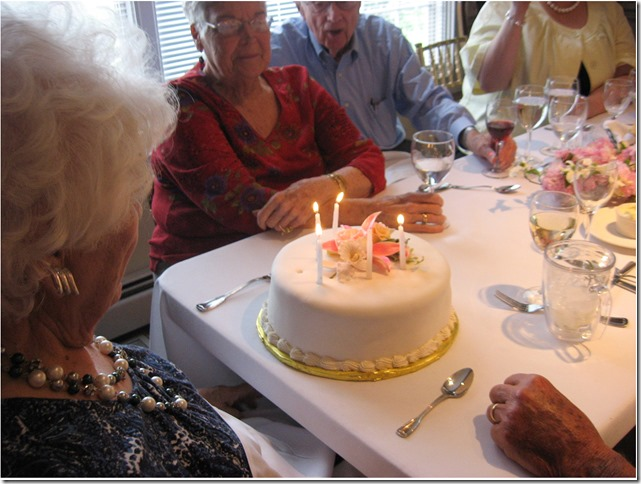 Mom and cake