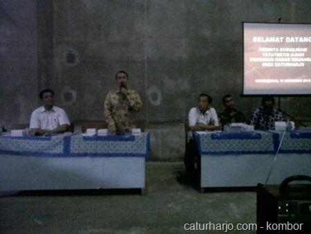 penetapan calon kabag keuangan desa caturharjo
