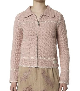 #49 Crochet jacket lite powder