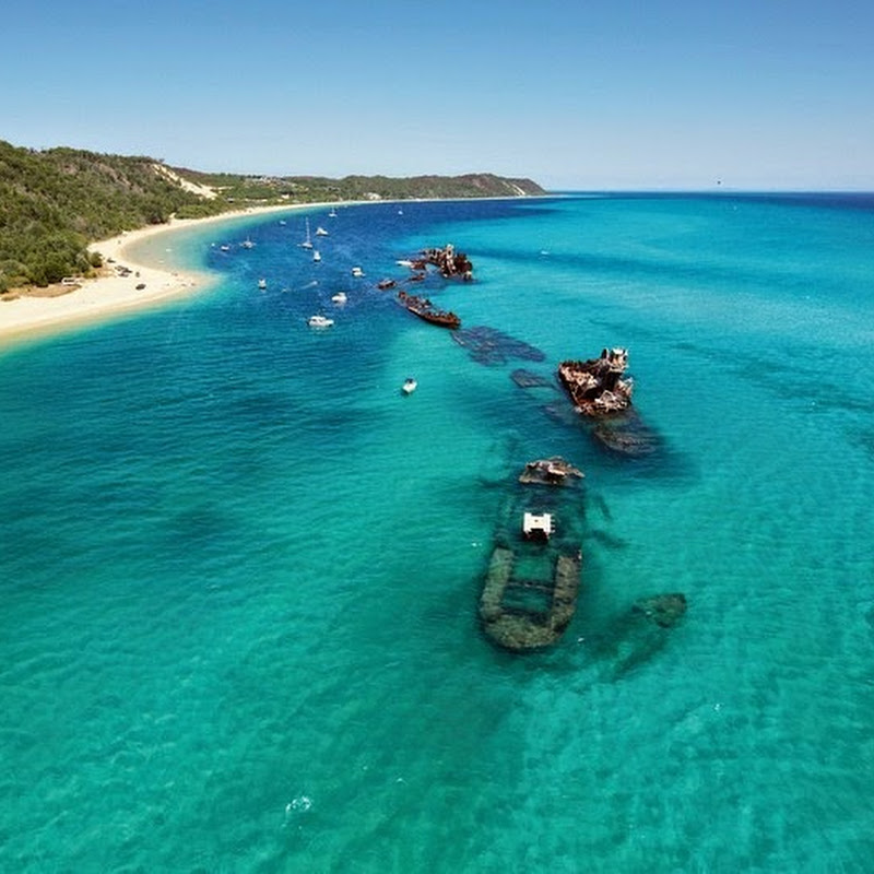 The Tangalooma Wrecks of Moreton Island