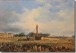 Érection de l'obélisque de Louqsor sur la place de la Concorde, le 25 octobre 1836 par Dubois