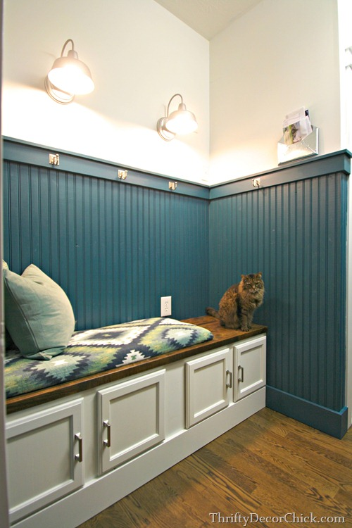 beadboard in mud room