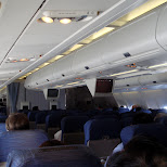 inside aircanada flight AC001 in Chiba, Tokyo, Japan
