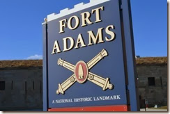 fort adams sign