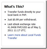 odesk exchange rate setup