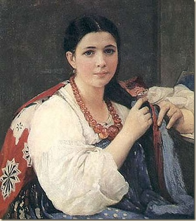 Alexsjej Korsuchin, jeune fille à la tresse