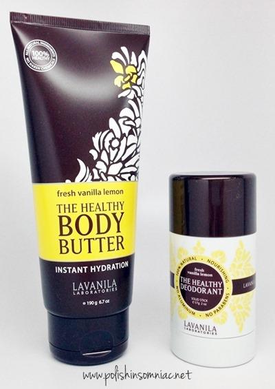 Lavanilla Body Butter and Healthy Deoderant in Fresh Lemon Vanilla