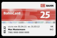 BahnCard 50 25