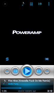 Mad Jelly Blue Poweramp Skin- screenshot thumbnail