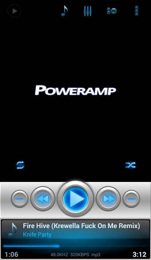 Mad Jelly Blue Poweramp Skin Screenshot 3