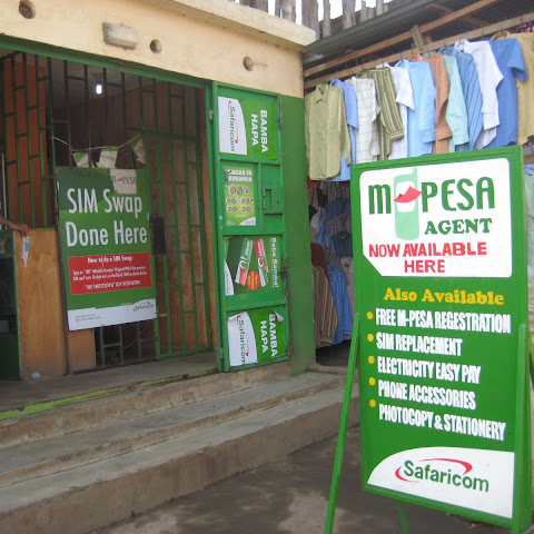 In Kenya, you can make payments, receive your wages and even save money on your mobile phone using Mpesa from Safaricom
