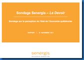 Sondage Senergis , Le Devoir