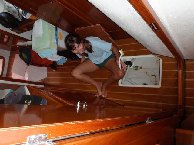 Lara cleaning bilges