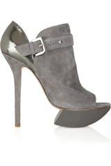 Camilla Skovgaard Suede and metallic leather ankle boots