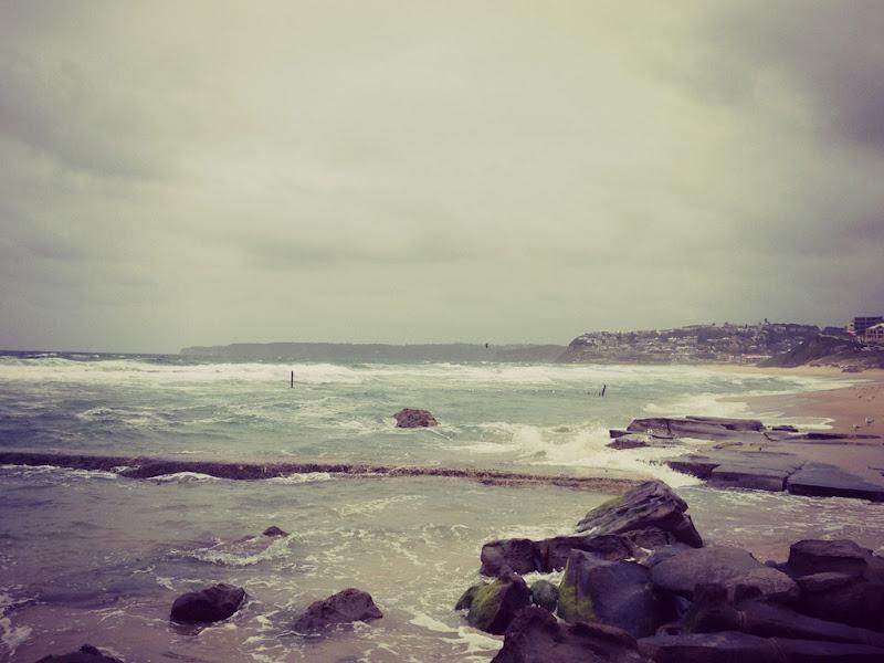 bar beach gloomy