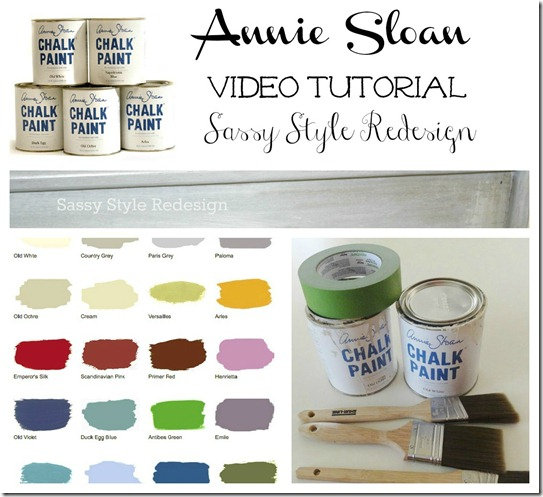 annie sloan chalk paint video tutorial