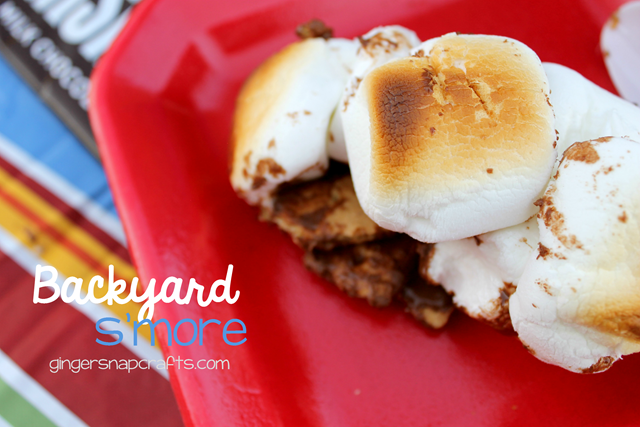 backyard s'more recipe at GingerSnapCrafts.com #shop