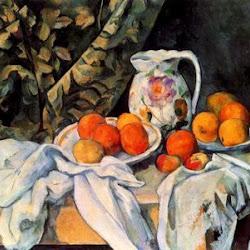 Paul Cezanne (1899): Bodegón con pañería. Museo del Hermitage. San Petersburgo. Postimpresionismo