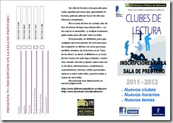 club de lectura triptico 2011 - 1