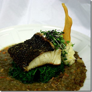Sea-Bass-Lentil-Spinach