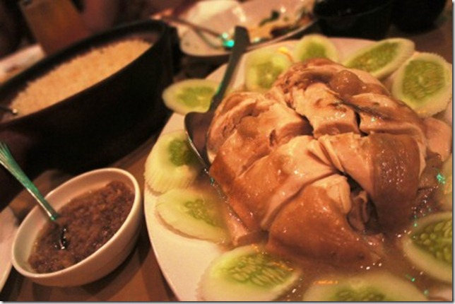 A very authentic Hainanese Chicken Rice