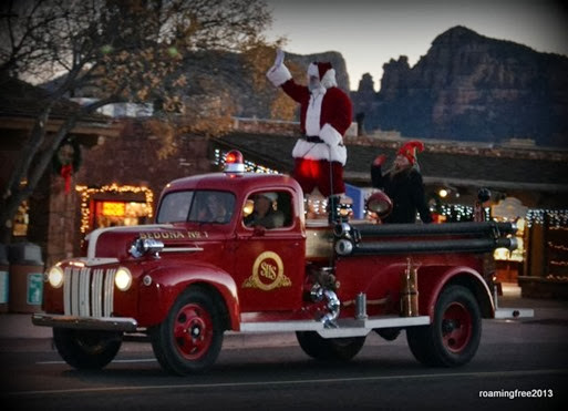 Santa arrives in Sedona!