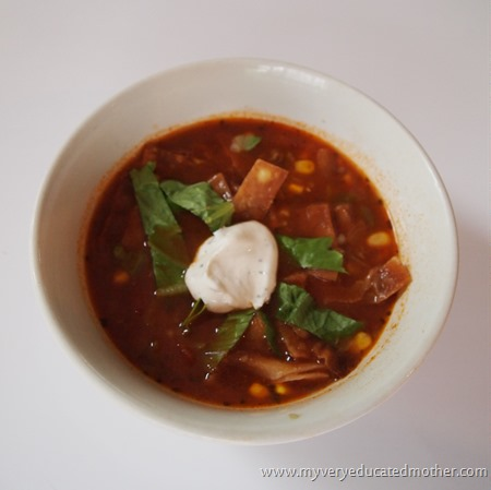 www.myveryeducatedmother.com #easysouprecipes #tortillasoup