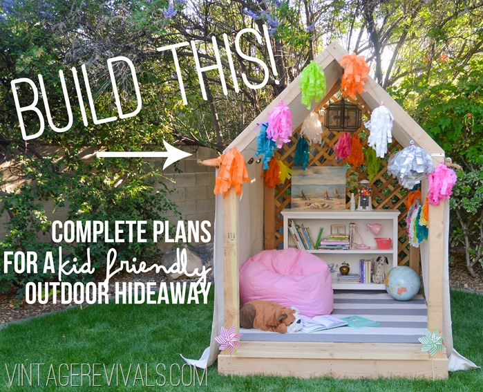 Summer reading nook outdoor hideaway building plans How to build outdoor playhouse