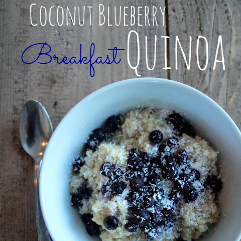 Coconut Blueberry Breakfast Quinoa
