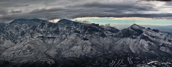 Snow in Tucson Santa Catalinas
