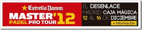 Máster Estrella Damm de la historia, una prueba que este año estrena escenario, el espectacular estadio principal de la Caja Mágica 2012