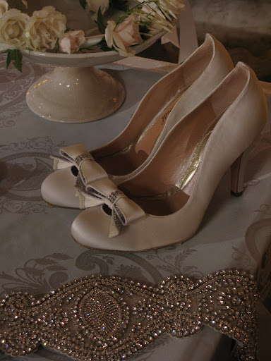 Josie Ivory Satin Bridal Heel from Aruna Seth.